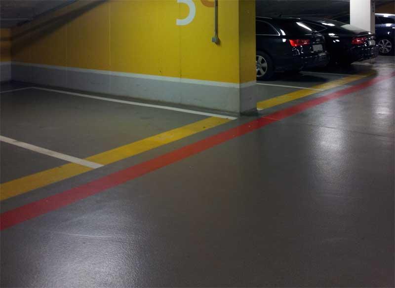 шлифованный бетон для паркинга