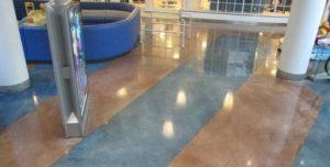 декорированный бетонный пол